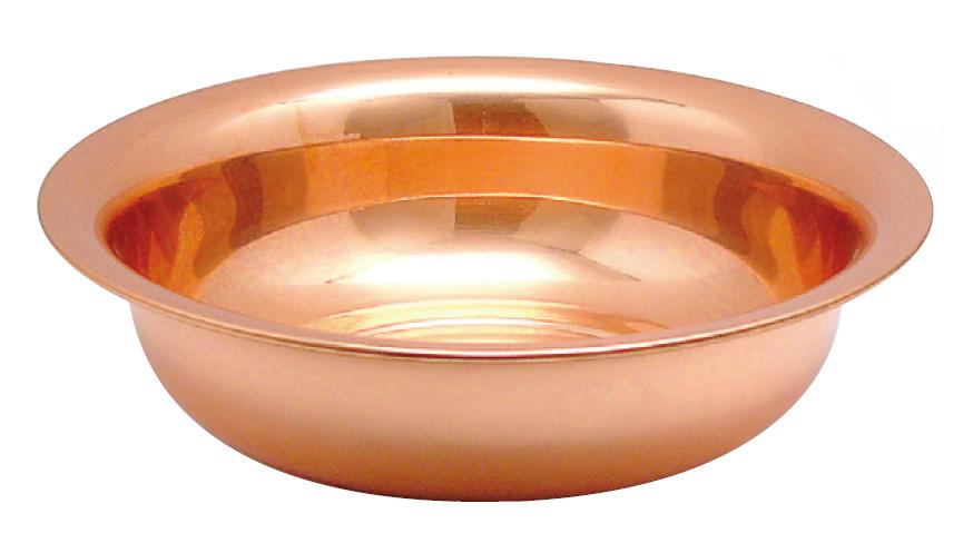 洗面器 銅 大 殺菌抗菌 送料無料 COPPER100 新光金属