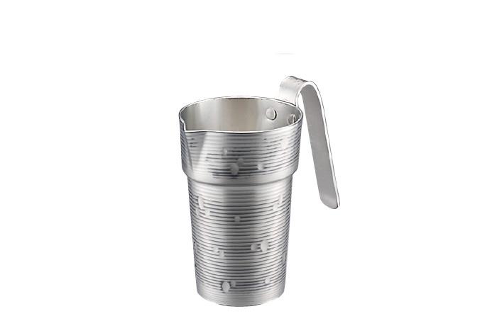 チロリ 酒たんぽ 銅 1合 雪月花シリーズ 手打ちチロリ 淡雪 錫被 送料無料 新光堂 COPPER100 新光金属