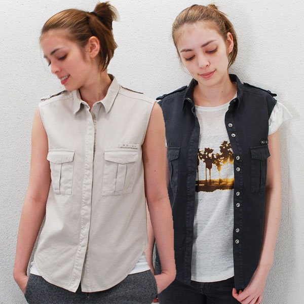 IRO イロレディス ノースリーブスタッズ付きコットンワークシャツ(S/S)【正規品】【メール便可】 【50】