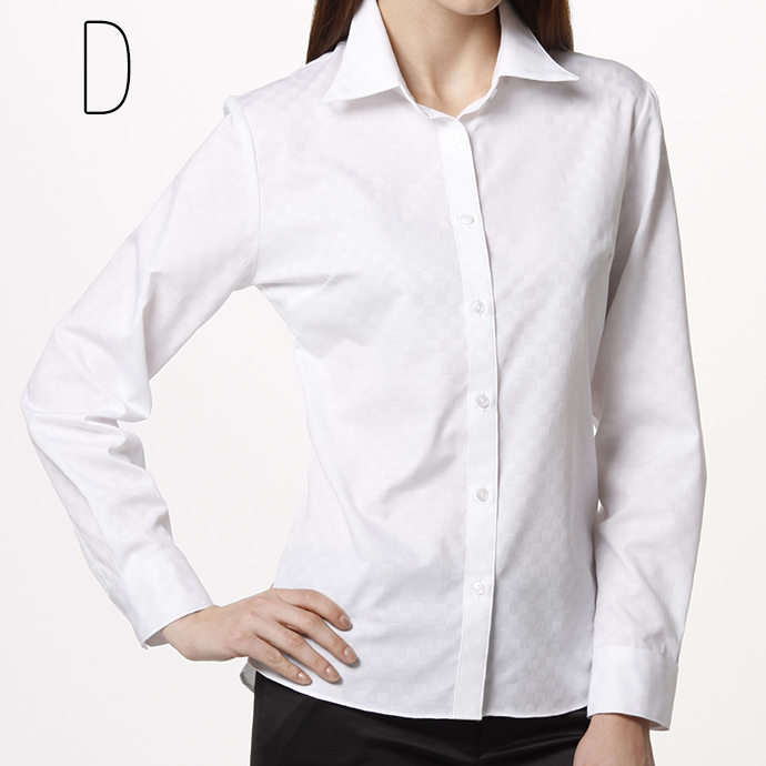 Shirt blouse long sleeve smart basic ( white shirt blouse women's shirts plain on active blouse recruit / uniform )