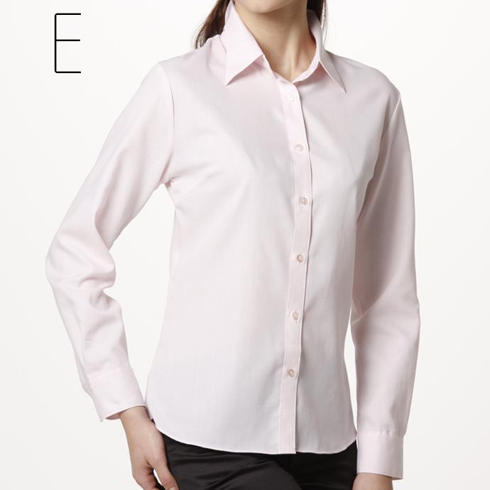Shirt blouse long sleeve smart basic ( white shirt blouse women's shirts plain on active blouse recruit / uniform )