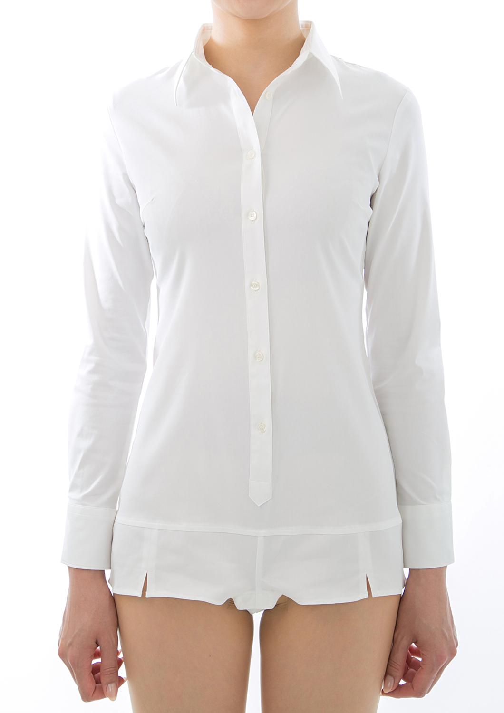 【長袖×3着セット】 ボディシャツ ホワイト 【送料無料/まとめ5%オフ】