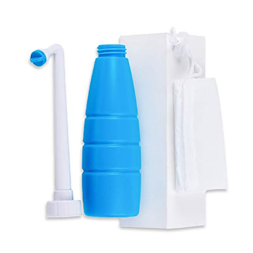 HAMILO 携帯おしり洗浄機 手動式ウォッシュレット お尻洗い 在庫一掃売り切りセール ブルー 簡易トイレ 市場 アウトドア