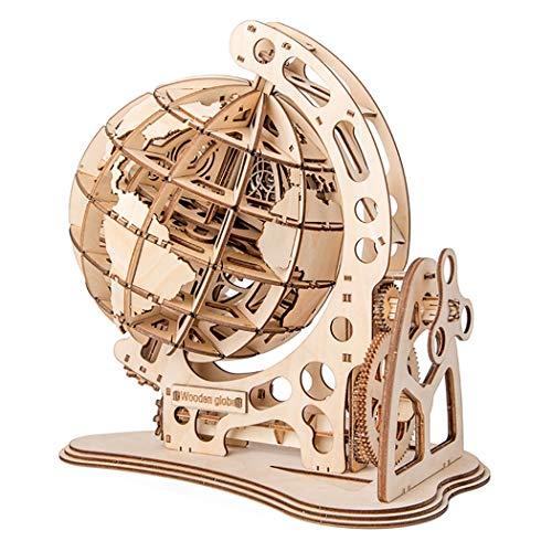 売店 ☆送料無料☆ 当日発送可能 HAMILO 組み立て式木製地球儀 木製模型 組み立て模型 木製置物 ナチュラルウッド おもちゃ