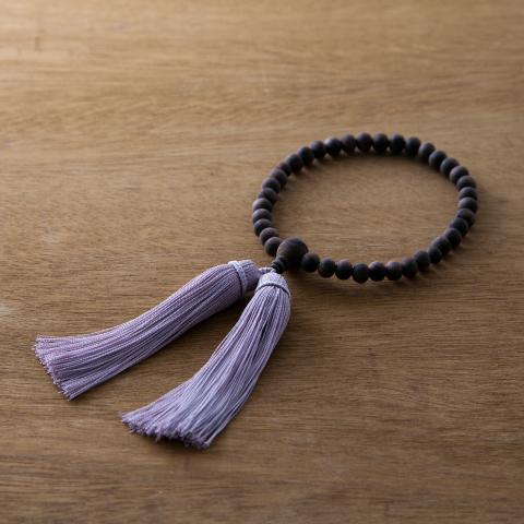 お念珠 紅梅  数珠 女性用 お数珠 お念珠 黒檀 juzu 略式数珠 片手数珠 上品 かわいい おしゃれ ピンク 紫/母の日