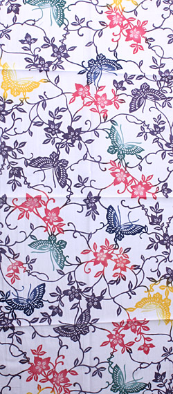 이원염손수건(수건・수건) 텟센에 나비