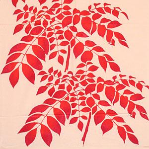 【のレンは取扱い手ぬぐい約600種類!】秋を表わす模様。特にきものの模様として古くより用いられてきた。 【在庫限り】戸田屋商店 梨園染 注染 手ぬぐい 紅葉に七かまど 紅葉 もみじ 紅葉狩り 七かまど てぬぐい 手拭い タペストリー おしゃれ 春 夏 秋 冬 赤 オレンジ 和柄 植物 風景 季節 綿 綿100% 日本製 インテリア 【メール便可】 敬老の日