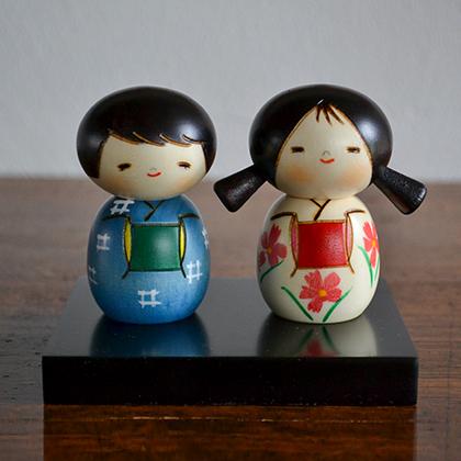 卯三郎こけし なかよし 創作こけし KOKESHI/Japanese/Doll/Traditionl/こけし/コケシ/日本/人形/伝統/和/和雑貨
