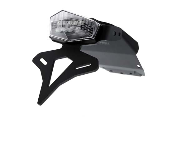 Evotech Performance Yamaha MT-125 フェンダーレス(ナンバープレートホルダー)キット 2014+ (Clear Light)