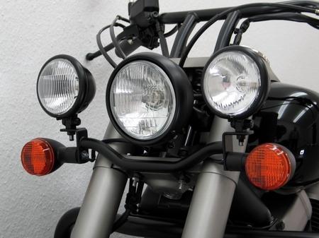 Fehling: ライトバー 後付ヘッドライト用 ブラック for Honda VT 750 C4 Black