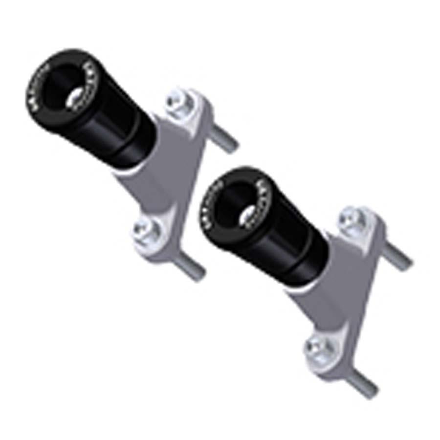 GBRacing: KTM 990 アッパーフレームスライダーセット | CP-SD-1-SET-GBR