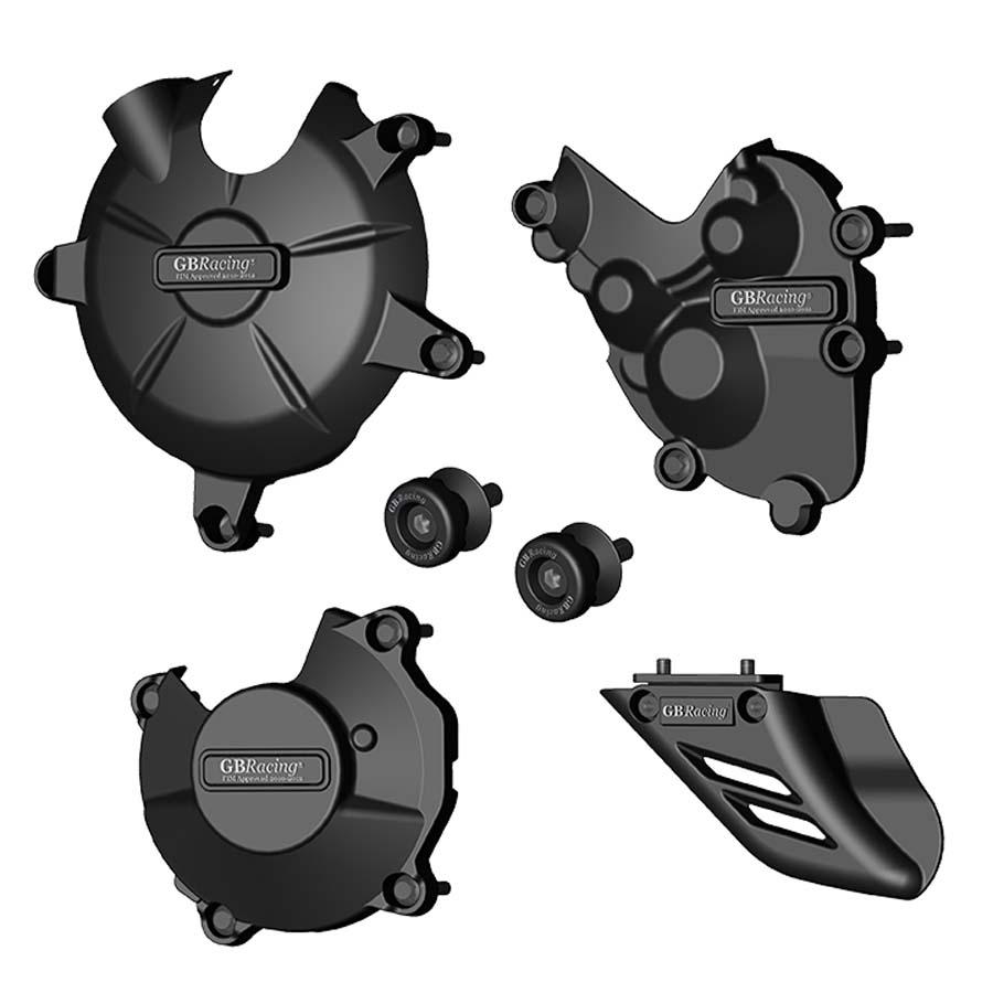 GBRacing Kawasaki ZX-6R (2009-2012) モータサイクルプロテクションフルセット | CP-ZX6-2009-CS-GBR