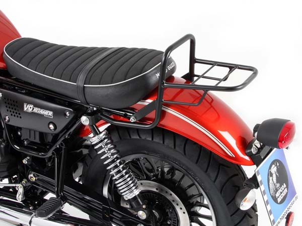 Hepco&Becker チューブトップケースキャリア -ブラック short seat for Moto Guzzi V 9 Roamer until 2016 (short seat) | 654546 01 01