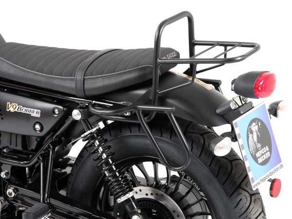 Hepco&Becker チューブトップケースキャリア for model with short seat for Moto Guzzi V 9 Bobber from 2016 | 654547 01 01