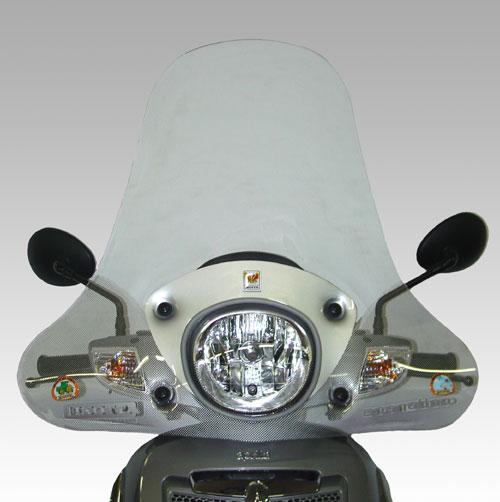 ISOTTA: APRILIA スクーター Scarabeo 125 - 200 Light 2007 - ウインドシールド - エコノミック
