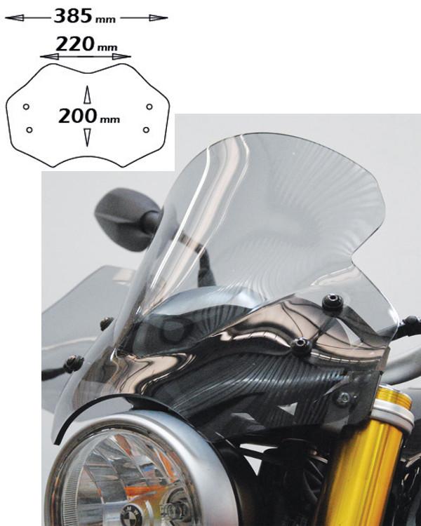 ISOTTA: BMW R nine T (2014-) ウインドシールド ミディアム ライトスモーク | SC1151-FC
