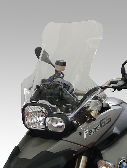 ISOTTA: BMW F 650-800 GS '2008 - ウインドシールド - ハイプロテクション(ハンドガード取り付け可能)