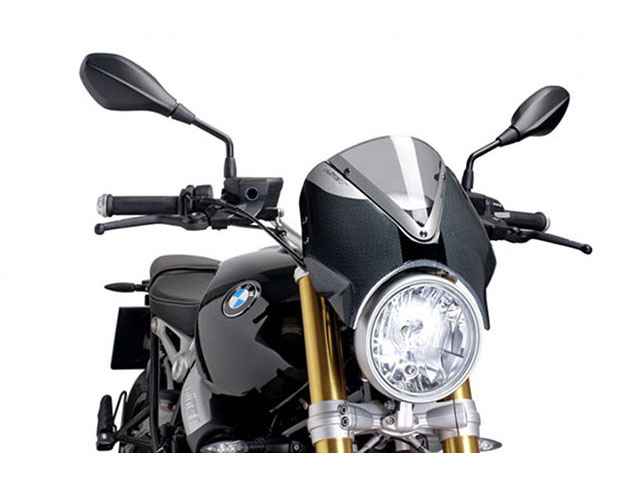 Puig: ウィンドスクリーン Naked New Generation BMW R nine T カーボンルックフェアリング