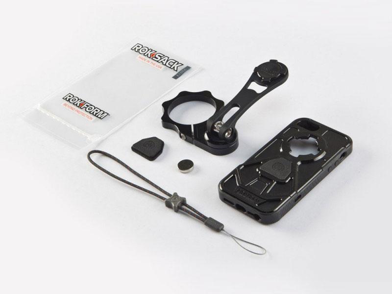 ROKFORM(ロックフォーム):バイクマウント v3モトマウント 53mm フォーククランプタイプ (iPhone5/5S v3ケース付属)