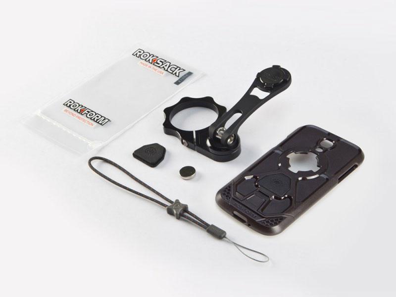 ROKFORM(ロックフォーム):バイクマウント v3モトマウント 53mm フォーククランプタイプ (Galaxy S4 v3ケース付属)