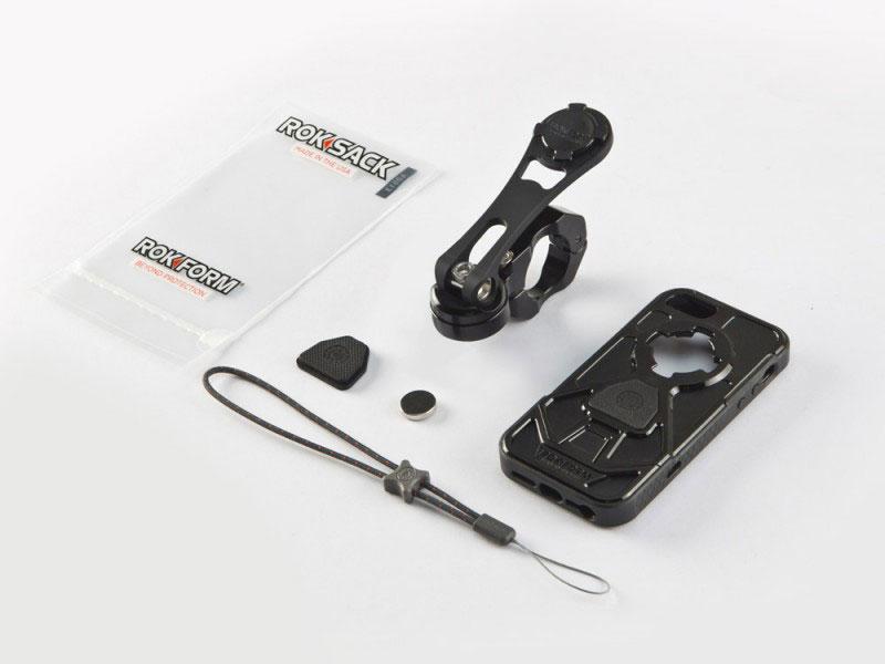 ROKFORM(ロックフォーム):バイクマウント v3 バークランプタイプ ブラック (iPhone5/5S v3ケース付属)