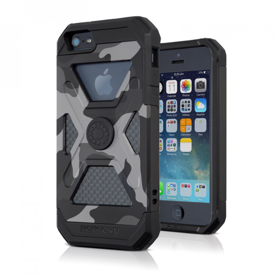 ROKFORM(ロックフォーム): iPhone 5/5s FUZION5 アルミニウムケース カモフラージュ