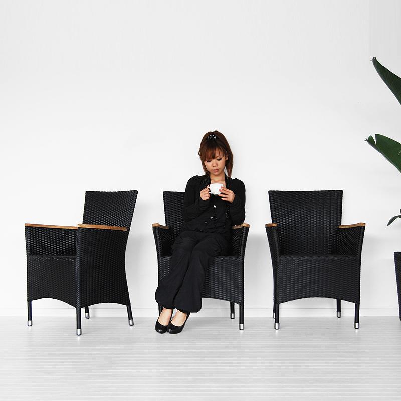 ★送料無料 シンセティックラタン【ノバ】ダイニングチェア アジアン家具