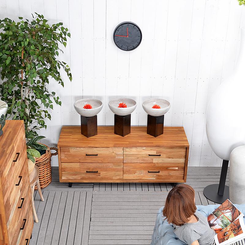 ★送料無料 HP フラワーベース(ホワイト)#GB14052 あす楽対応! アジアン家具 雑貨 花瓶 壺 つぼ 木製 インテリア 花台
