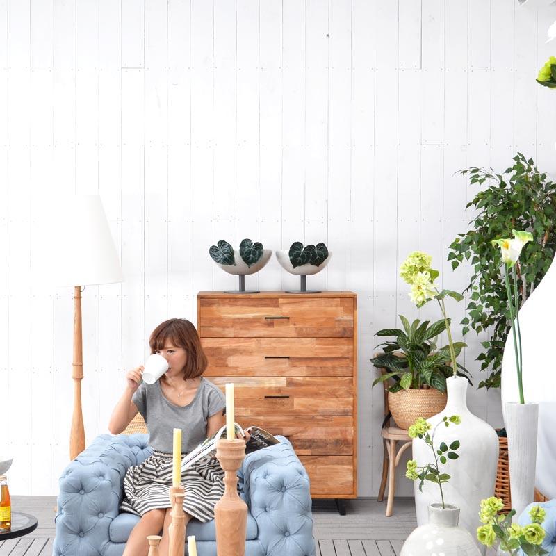 送料無料 HPフラワーベース ホワイト #GB14048 アジアン家具 雑貨 インテリア 壺 買い取り 花瓶 木製 海外限定 花台 つぼ