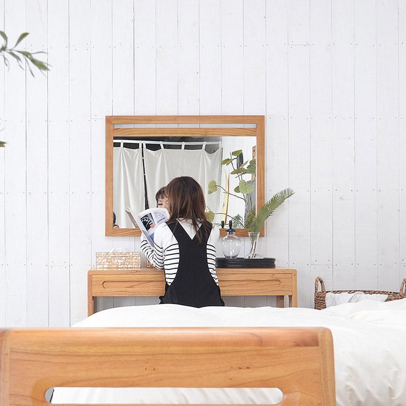 送料無料 ミンディ【エルジャ】ミラー(タテ/ ヨコ)鏡 壁掛けミラー 角型 ウォールミラー 長方形ミラー レクタングルミラー 壁掛け用 かわいい おしゃれ 店舗 カフェ ホテル アジアンミラー 木製
