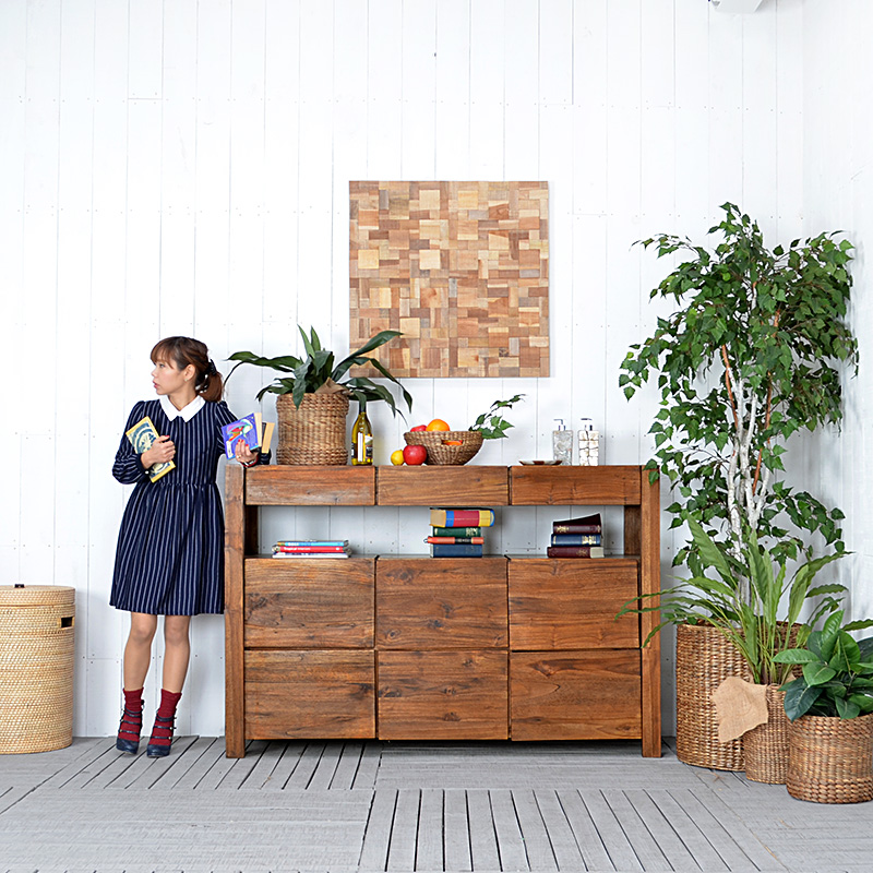Charmant Corigge Market | Rakuten Global Market: Teak Console Table Asian Furniture  Natural Wood Wooden Storage Furniture Simple Modern Living Board Storage  Shelves ...