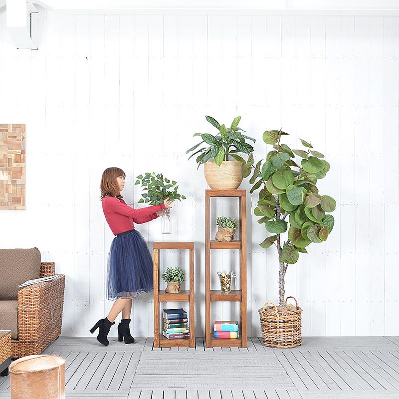 ★送料無料 【フォーチュナ】フラワースタンド(Sサイズ) アジアン家具