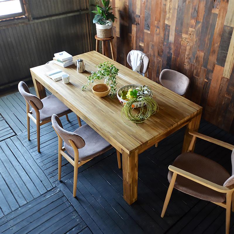 ハイランド【リクライムド】ダイニングテーブル アジアン テーブル 木製 無垢 シンプル モダン ダイニング 食卓 カフェ 北欧 6人用 4人用 2人用 ★送料無料