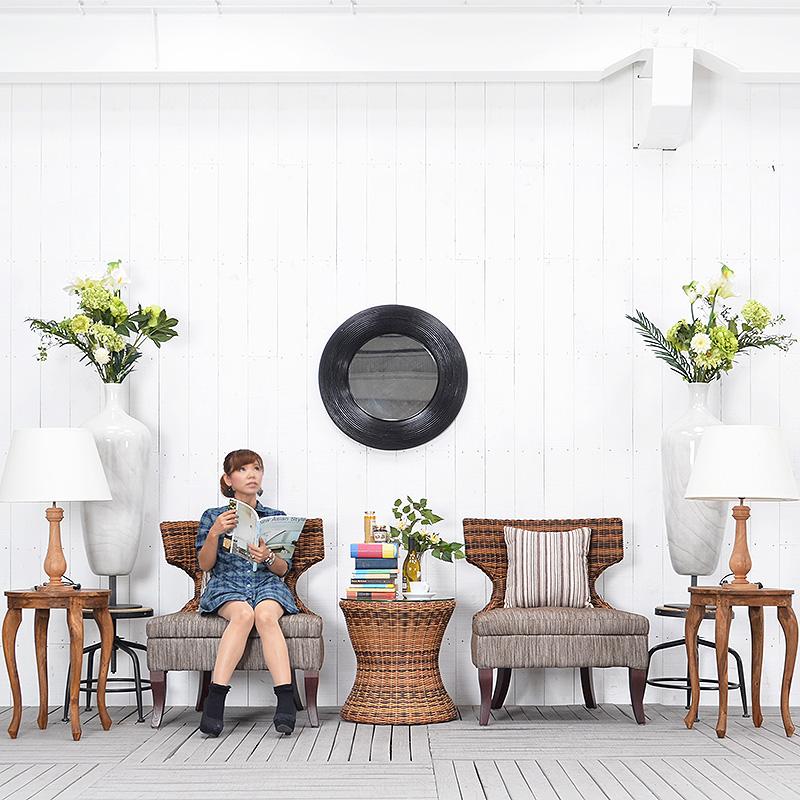 ★送料無料 【サルビニア】リラックスチェア アジアン家具 ソファ 1人掛け アジアン リゾート バリ バリ家具
