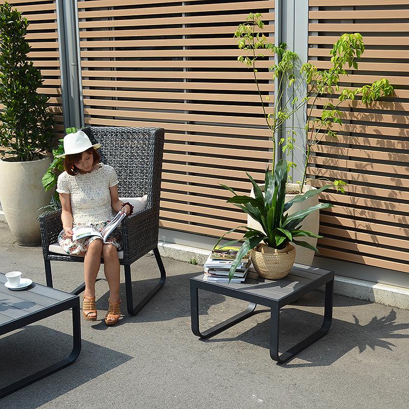 ★送料無料 【オーランド】コーヒーテーブル 63×63 アウトドア家具 ガーデン家具 ガーデンテーブル テラス モダン 屋外用家具