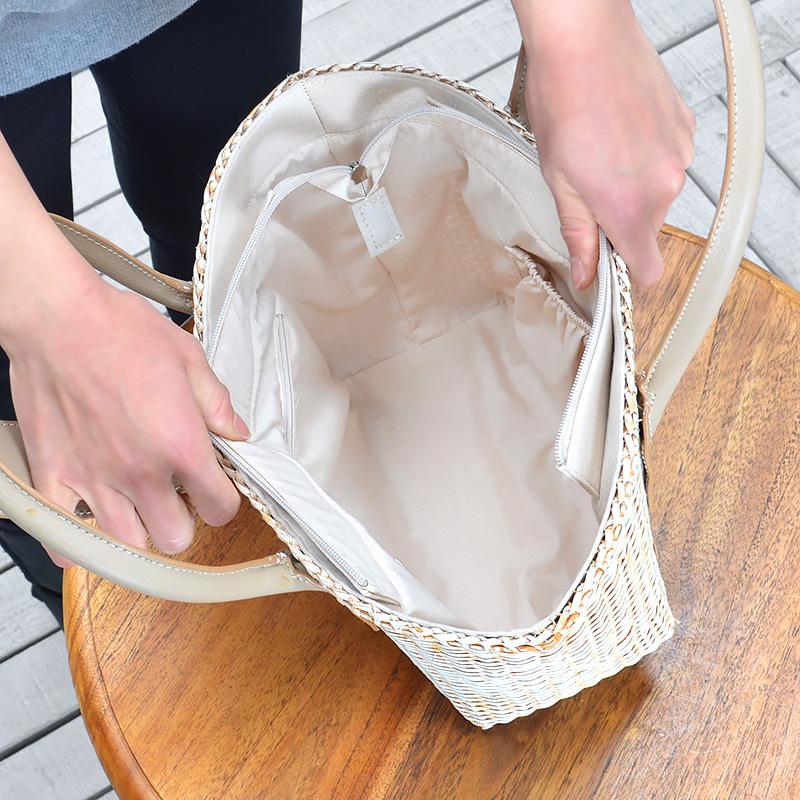 60 OFFセール 送料無料 ラタン・ハンドバッグ R SH01 WT カバン 鞄 かばん bag バッグ ハンドバッグ かごバlK3F1JcT