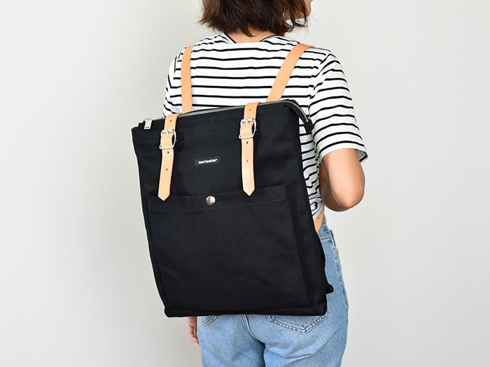 正規輸入品 送料無料 marimekko マリメッコ EPPU BAGS エップ リュックサック バックパック ブラック バッグ