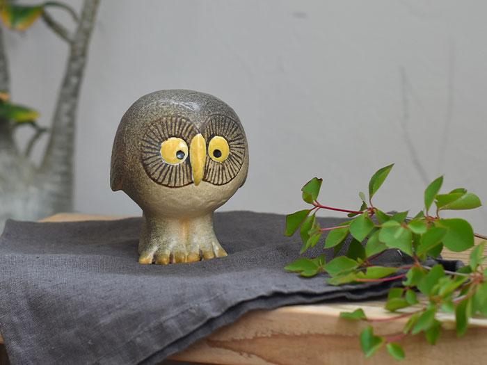 リサラーソン 陶器 ふくろう 当店は最高な サービスを提供します 置物 オブジェ リサ ラーソン Lisa OWL 北欧 トラスト ギフト Larson フクロウ グレー