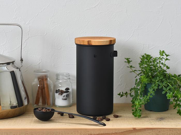 コーヒー キャニスター 保存容器 ステンレス ツバメ コーヒー缶 調味料入れ ブラック マット 海外 グローカルスタンダードプロダクツ GLOCAL ツバメシリーズ コーヒー豆 MW STANDARD フック PRODUCTS 新商品 保存 おしゃれ ギフト