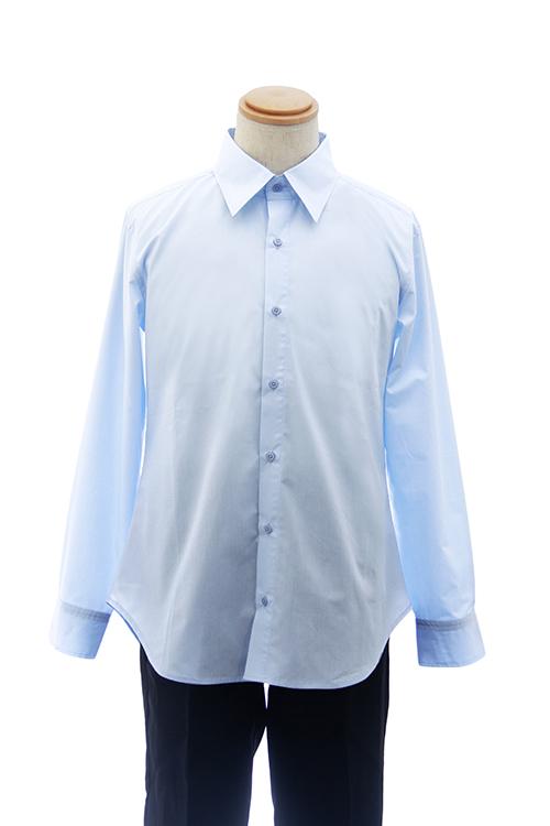 【春SALE価格】 カラーワイシャツ【水色 ブルー】【S~LL】コスプレ 衣装 シャツ 無地 青 カラーシャツ アパレル