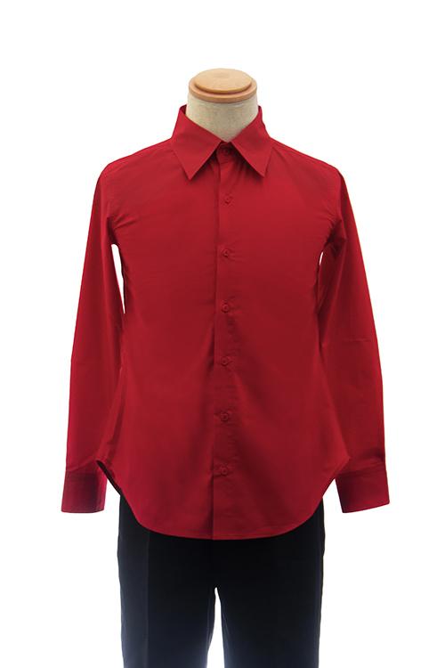【春SALE価格】 カラーワイシャツ【レッド 赤】【S~LL】コスプレ 衣装 シャツ 無地 青 カラーシャツ アパレル