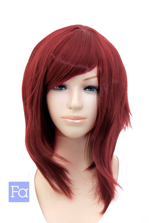サイドロング ガーズマンレッド 40色以上 コスプレウィッグ サイド ロング 赤 ハロウィーン 超特価SALE開催 ウィッグネット付 カラー 髪 ファクトリーアウトレット 耐熱 mlo-m130m