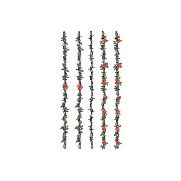 タトゥーシール 文字 トライバル 蝶 龍 ハート 薔薇 ハロウィン フェイクタトゥー スーパーSALE SEAL限定商品 毎日がバーゲンセール 月 タトゥー b05213 刺青 薔薇の鉄条網 メール便可 入れ墨