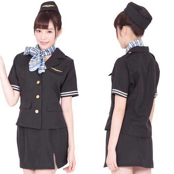 Coscommu Flight Girl Black Ka0036bk Cosplay Costume Costume
