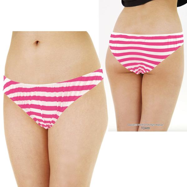White panties strip