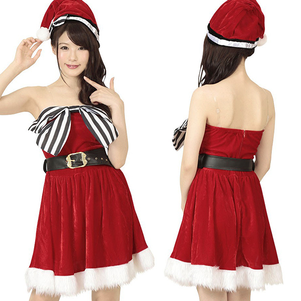 Harem Santa girl costume play pretty Christmas Santa reindeer Santa  Committee on Space Research tea event Santa Claus animation idol dance ...