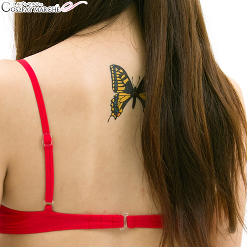 606a95391 ... <☆ coupon usable immediately> tattoo seal tattoo seal swallowtail  butterfly body seal face