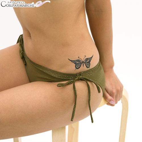 aa2547f03 ... <☆ coupon usable immediately> tattoo seal tattoo seal black  butterfly 2 body seal