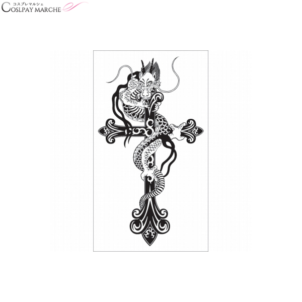 Coupon Usable Immediately Tattoo Seal Tattoo Seal Cross Dragon Body Seal Face Seal Tattoo Waterproofing Oblong Chest Tattoo Seal Letter Butterfly