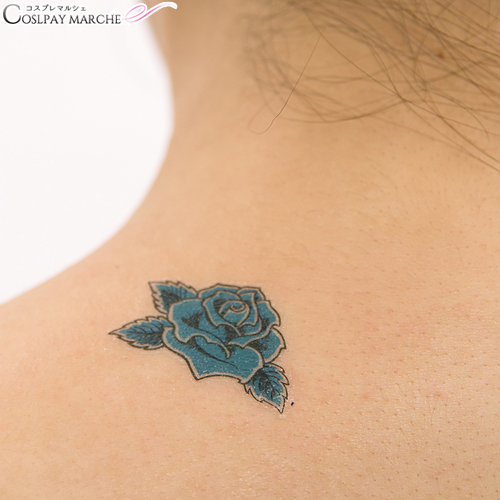 a48f4d2b9073d ... <☆ coupon usable immediately> tattoo seal tattoo seal blue rose,  try Baru
